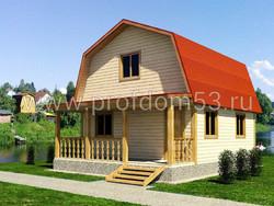 Дом из бруса проект Варяг - вид 1