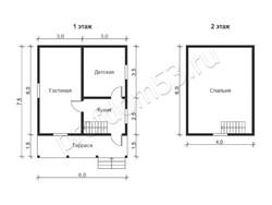 Дом из бруса проект Варяг - вид 2