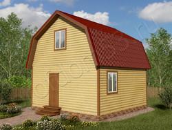 Дом из бруса проект Вениамин - вид 1