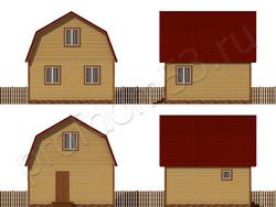 Дом из бруса проект Вениамин - вид 2
