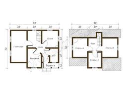 Дом из бруса проект Виктор - вид 2