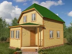 Дом из бруса проект Вильгельм - вид 1