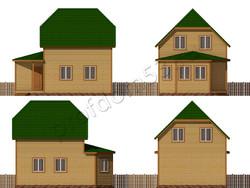 Дом из бруса проект Вильгельм - вид 2