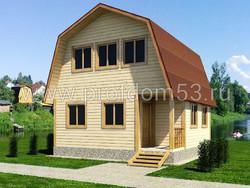 Дом из бруса проект Виталий - вид 1