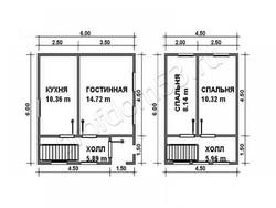 Дом из бруса проект Виталий - вид 2