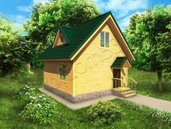 Дом из бруса проект Влад - вид 1