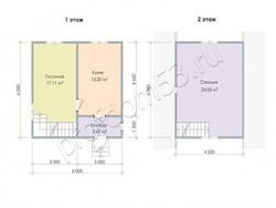 Дом из бруса проект Влад - вид 2