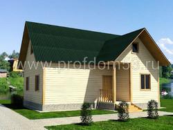 Дом из бруса проект Владимир - вид 1