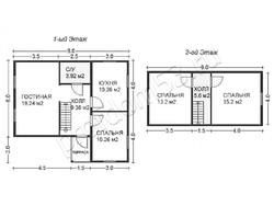 Дом из бруса проект Владимир - вид 2