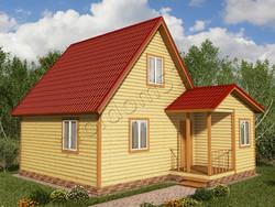 Дом из бруса проект Владислав - вид 1