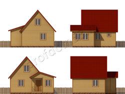 Дом из бруса проект Владислав - вид 2