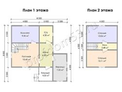 Дом из бруса проект Владислав - вид 3
