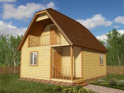 Дом из бруса проект Владлен - вид 1