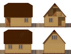 Дом из сухого бруса проект Владлен - вид 2