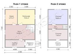 Дом из бруса проект Владлен - вид 3