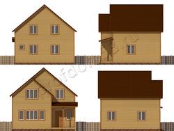 Дом из бруса проект Влас - вид 2