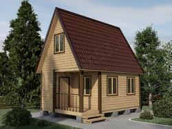 Дом из сухого бруса проект Харитон - вид 1