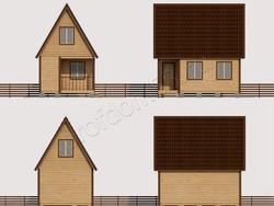Дом из сухого бруса проект Харитон - вид 2