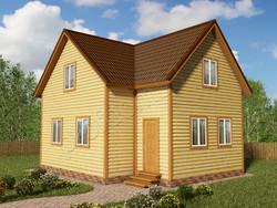 Дом из бруса проект Христоф - вид 1