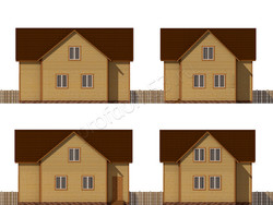 Дом из бруса проект Христоф - вид 2