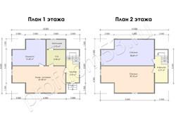 Дом из бруса проект Христоф - вид 3