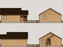 Дом из бруса проект Яков - вид 2