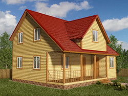 Дом из бруса проект Якун - вид 1