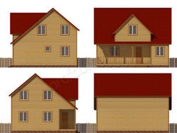 Дом из бруса проект Якун - вид 2