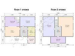 Дом из бруса проект Якун - вид 3