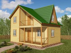 Дом из бруса проект Яромир - вид 1