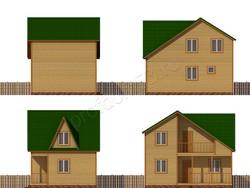 Дом из бруса проект Яромир - вид 2