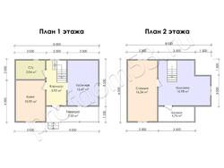 Дом из бруса проект Яромир - вид 3