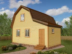 Дом из бруса проект Ярополк - вид 1