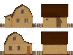 Дом из бруса проект Ярополк - вид 2