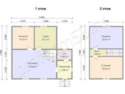 Дом из бруса проект Ярополк - вид 3