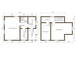 Дом из бруса проект Ярослав - вид 2
