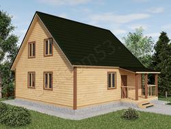 Дом из бруса проект Юлиан - вид 1