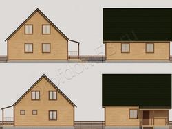 Дом из бруса проект Юлиан - вид 2