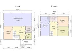 Дом из бруса проект Юлиан - вид 3