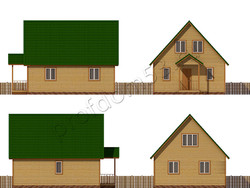 Дом из бруса проект Юнус - вид 2