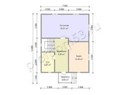 Дом из бруса проект Юнус - вид 3