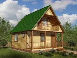 Дом из сухого бруса проект Юрий - вид 1