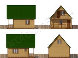 Дом из сухого бруса проект Юрий - вид 2