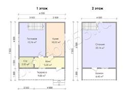 Дом из бруса проект Юрий - вид 3