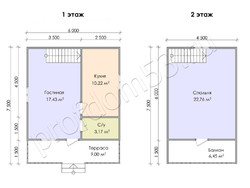 Дом из сухого бруса проект Юрий - вид 4
