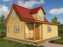 Дом из бруса проект Юстиниан - вид 1