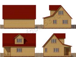 Дом из бруса проект Юстиниан - вид 2