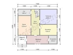 Дом из бруса проект Юстиниан - вид 3