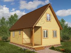 Дом из бруса проект Юстус - вид 1