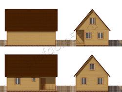 Дом из бруса проект Юстус - вид 2
